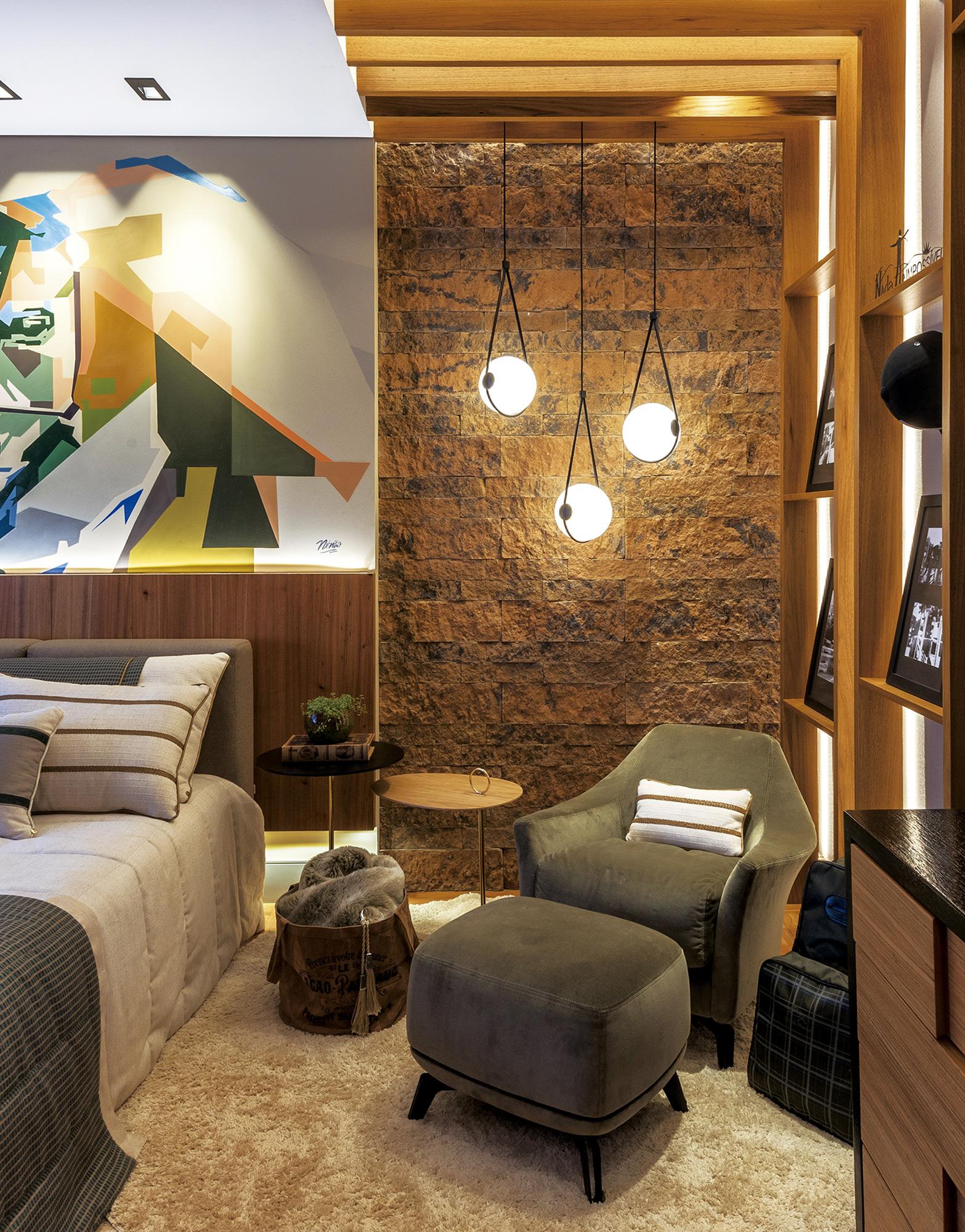 Ecobrick Stone Capuccino - Campinas Decor 2018 - Designers de Interiores Inara Petean e Ana de Castro - Foto Favaro Jr.