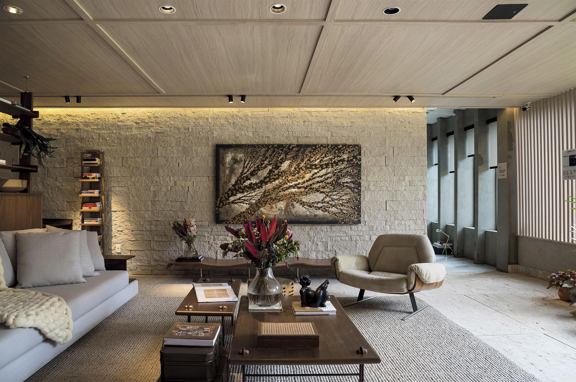 Ecobrick Stone Marfim - Casa Cor Brasilia 2018 - Studio Arch - Foto Rafael Nadler