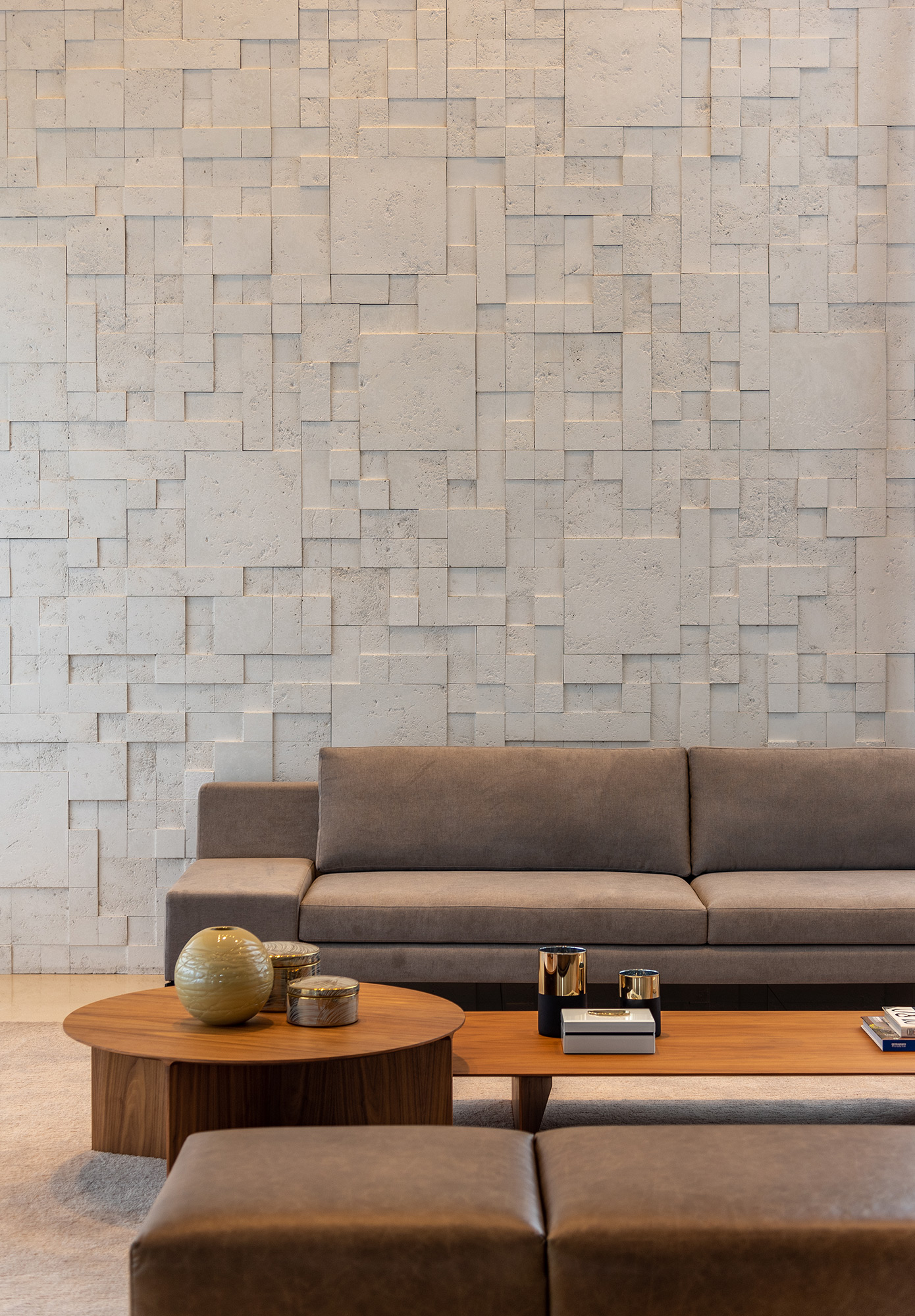 Mosaico Etrusco Branco -Arquiteta Mariana Haja - Foto Favaro Jr.