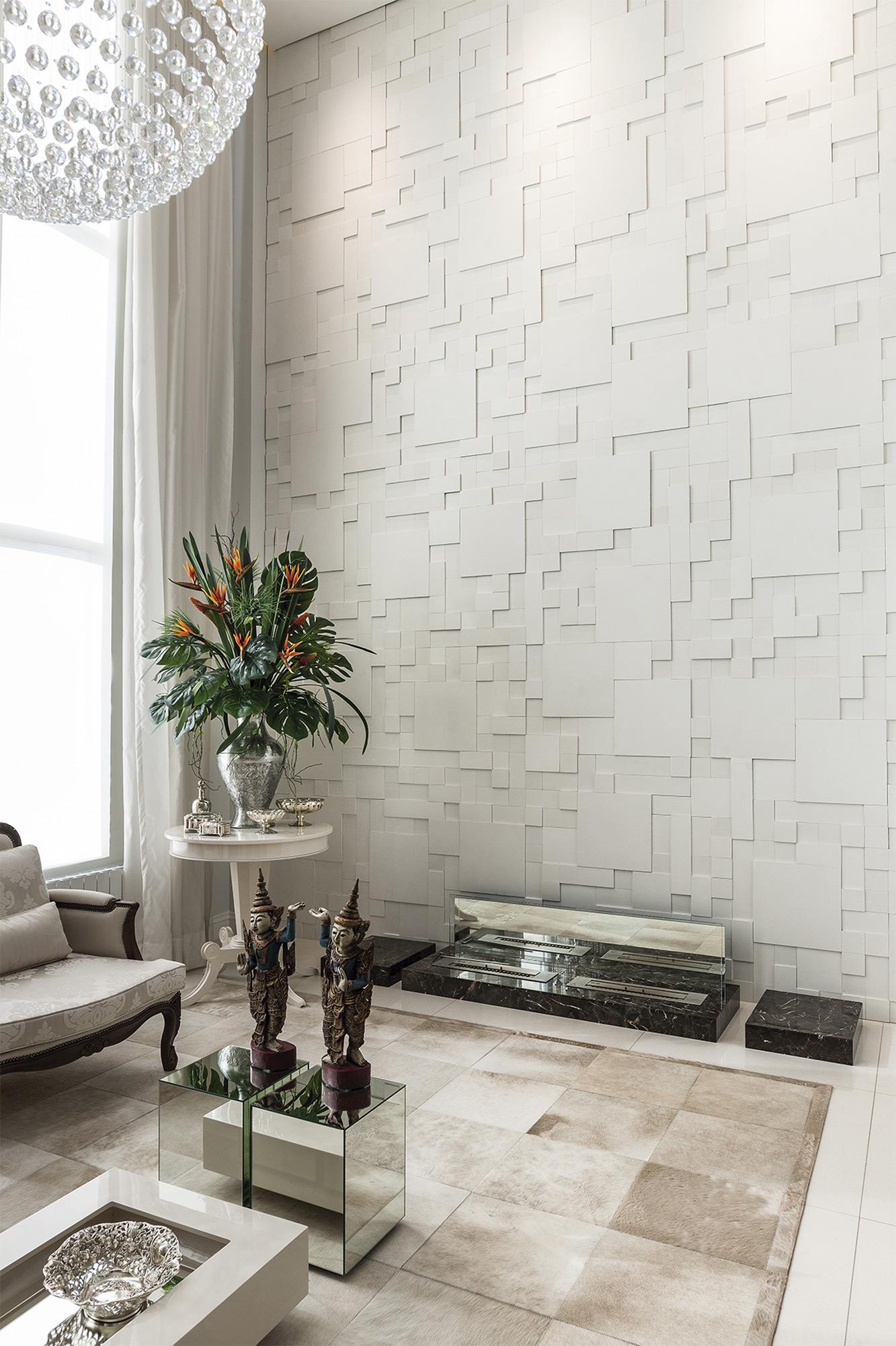 Mosaico Paris Branco - Arquiteta Monique Pedruzzi - Foto Gilmar Gomes