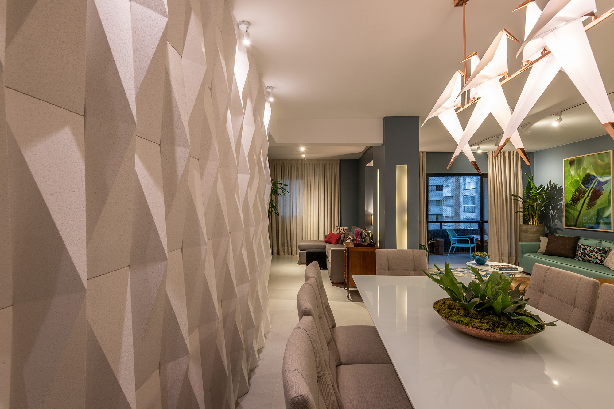 Origami Branco - Designer de Interiores Henrique Freneda - Foto Favaro Jr.
