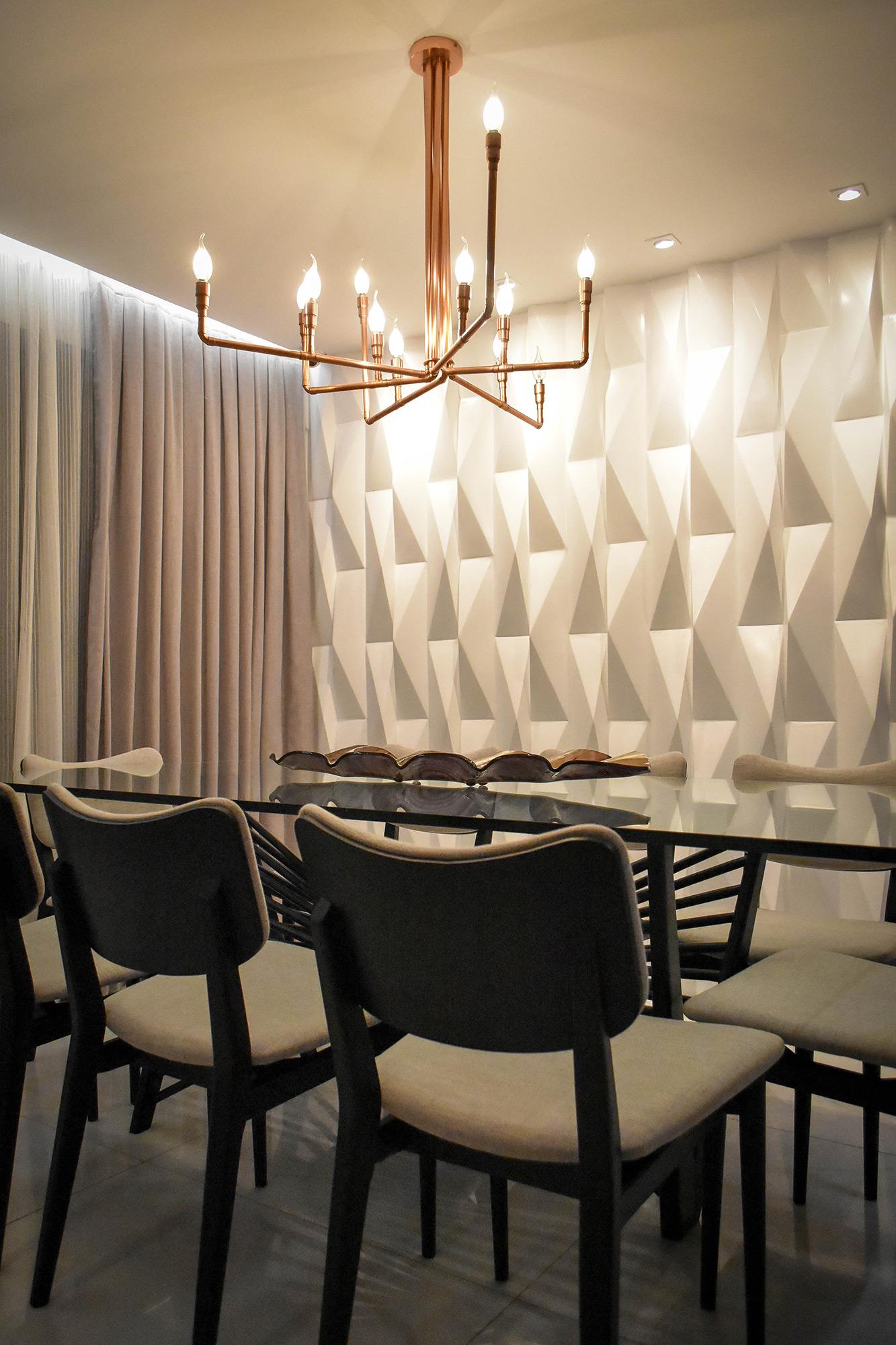 Origami Branco - Sala 4 Arquitetura