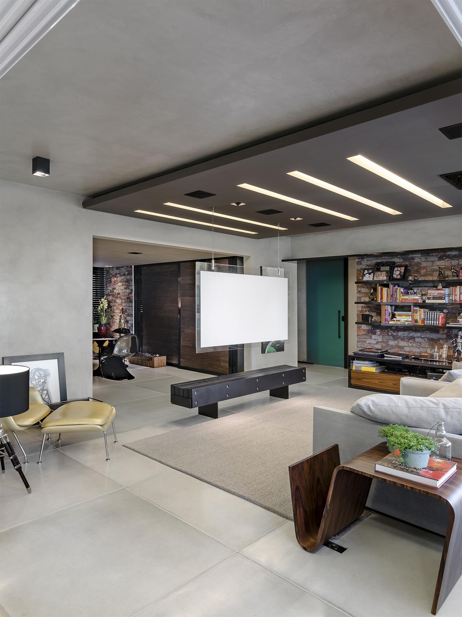 Piso Paris Cinza - Escritório Okha Arquitetura e Design - Foto Ronaldo Rizzutti
