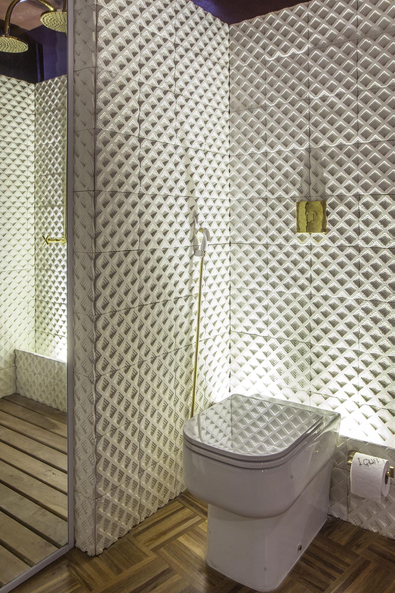 Segmentos Grezzo Branco - Escritório Um a Um Arquitetura e Design - Foto Clausem Bonifácio