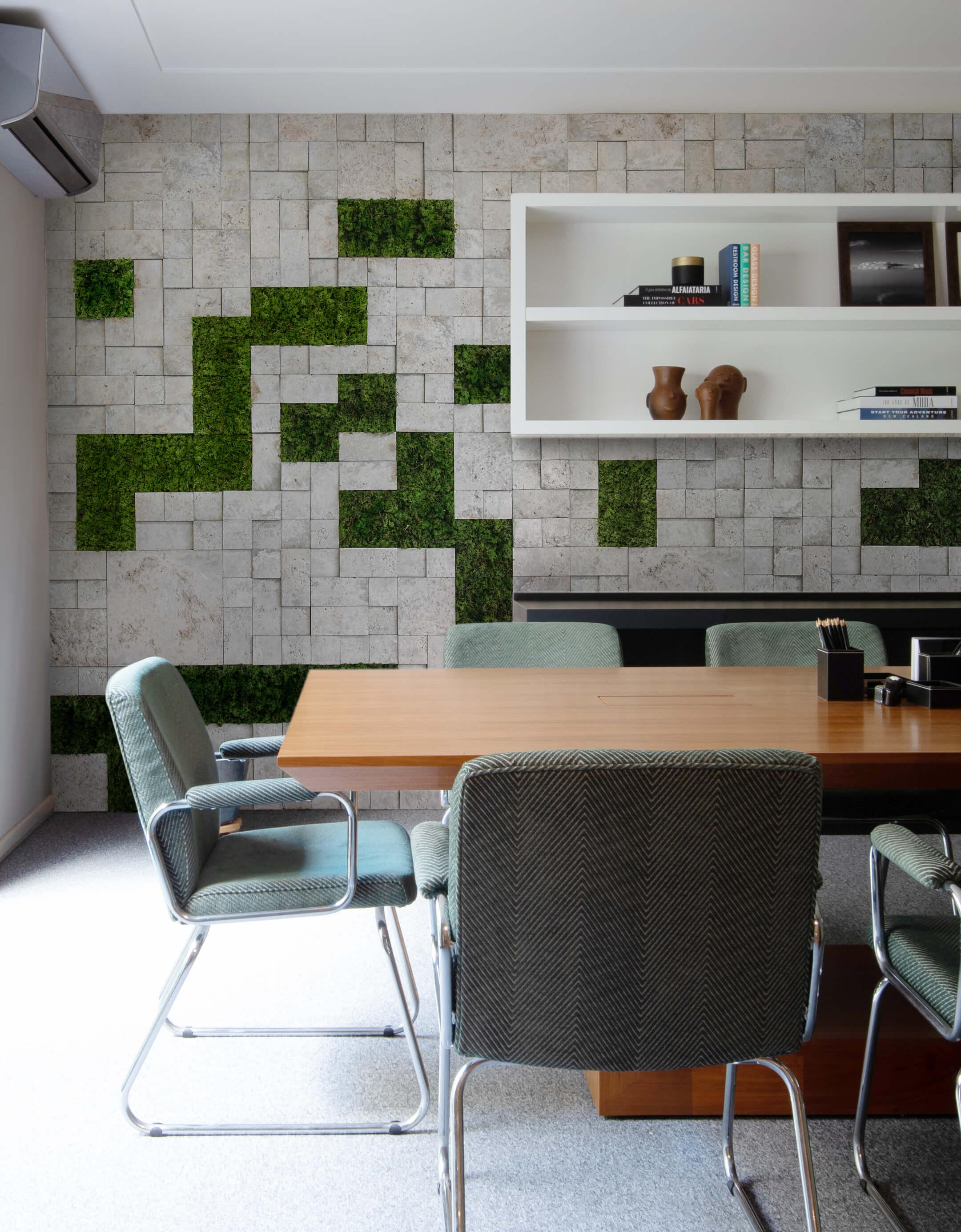 Mosaico Etrusco Fendi - Moss verde floresta - Arq. Thalita Aguilar - Foto Favaro Jr.